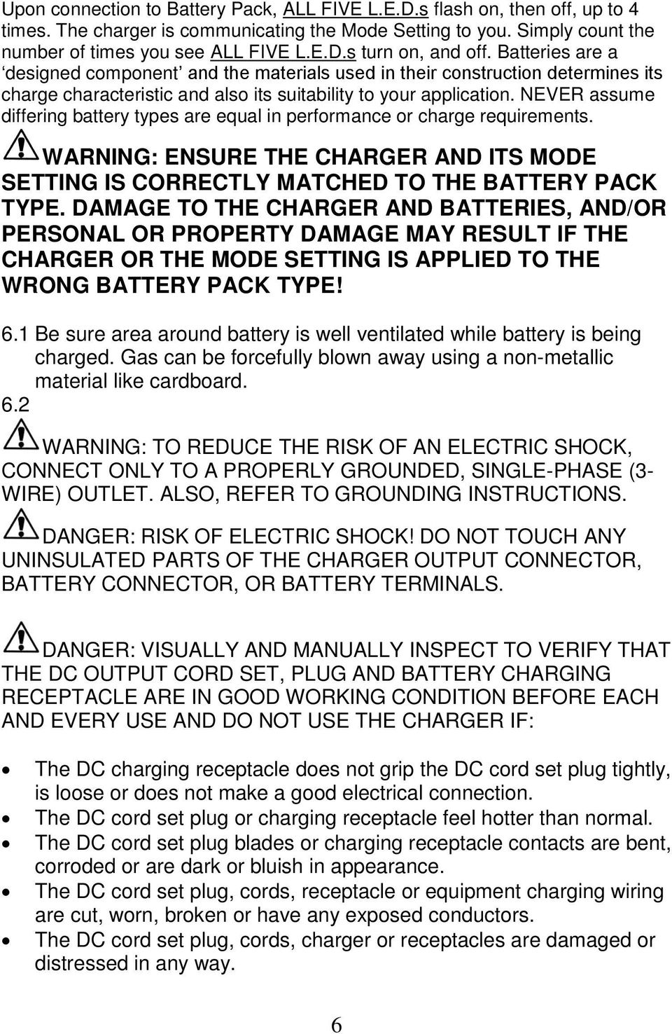 Accusense Charge Series On Off Board Fully Automatic Battery Charger Dpi 48v Wiring Diagram Never Assume Differing Types Are Equal In Performance Or Requirements Warning Ensure