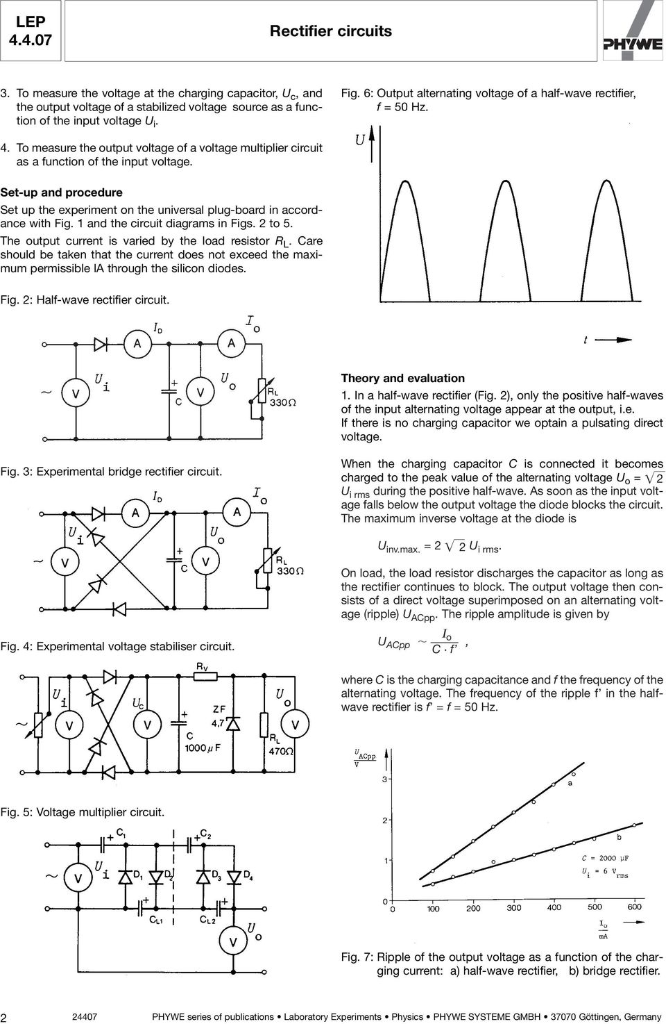 Lep Rectifier Circuits Pdf Circuit Diagram Quiz Board Set Up And Procedure The Experiment On Universal Plug In