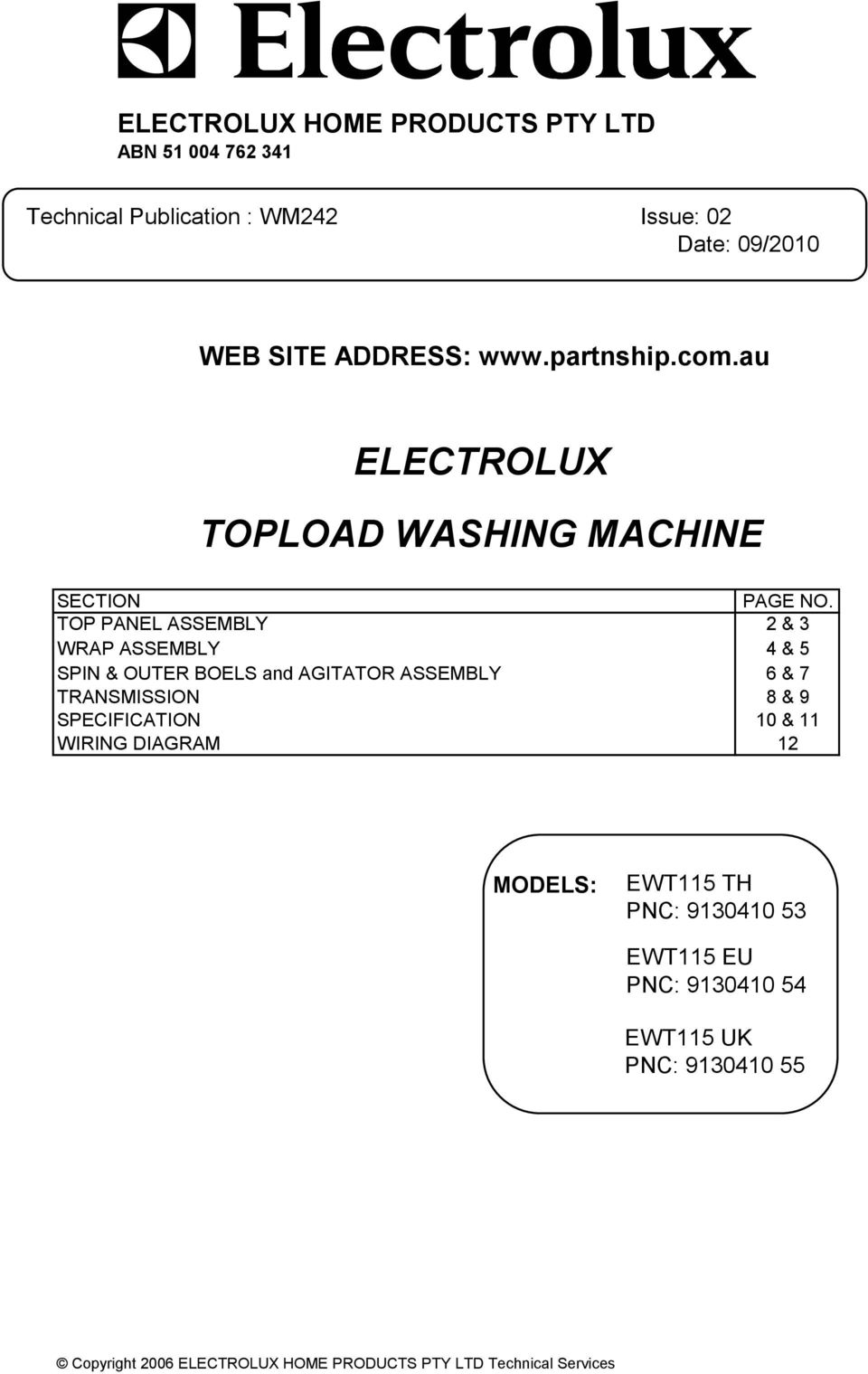 Electrolux Topload Washing Machine Pdf Spin Dryer Wiring Diagram Top Panel Assembly 2 3 Wrap 4 5 Outer Boels And