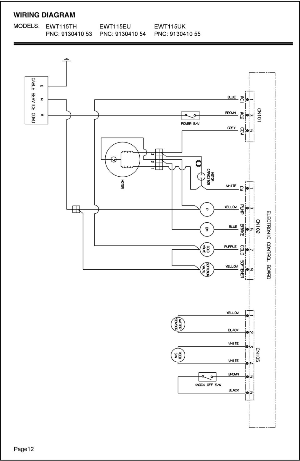 Electrolux Topload Washing Machine Pdf Wiring Diagram Whirlpool Wtw5200vq2 Pnc 91304 53