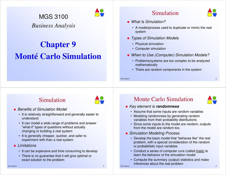 Chapter 9 Monté Carlo Simulation - PDF