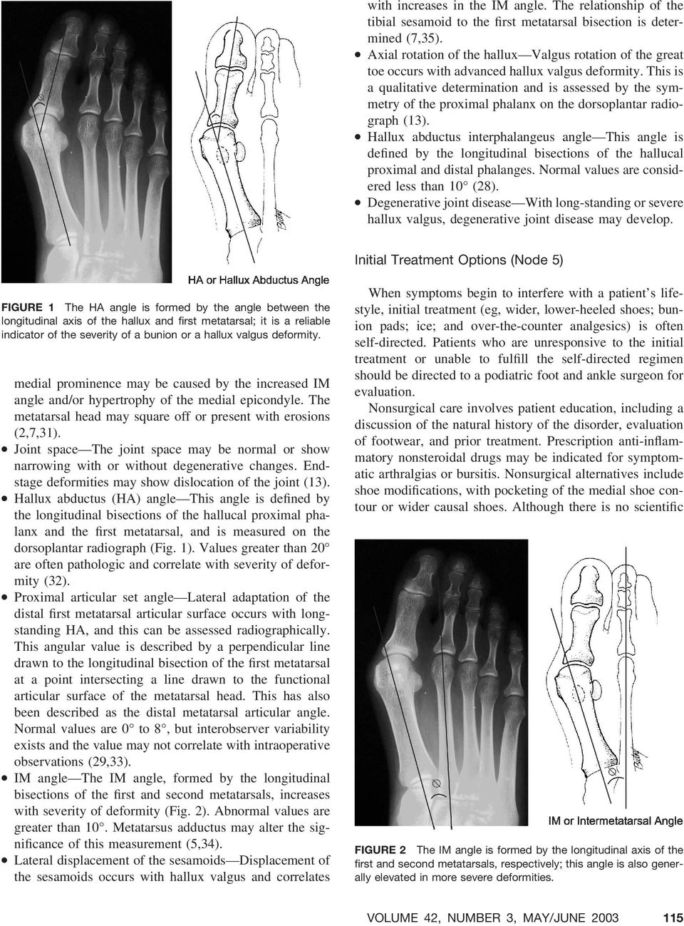 Diagnosis and Treatment of First Metatarsophalangeal Joint