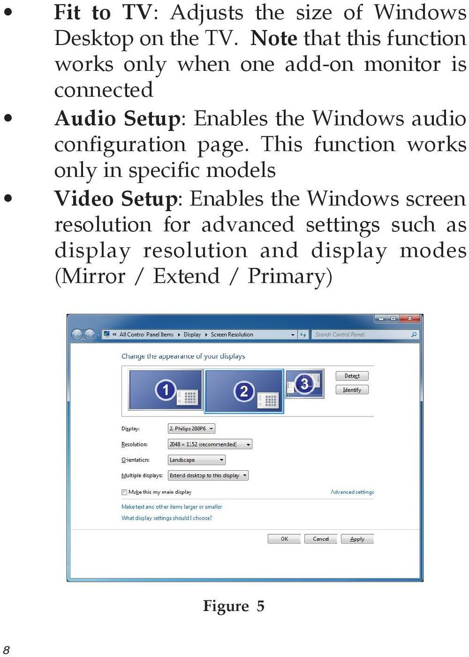 Windows audio configuration page.