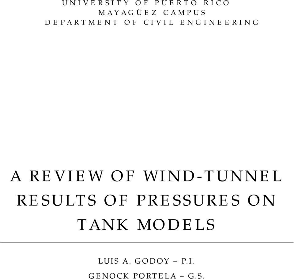 A review of wind tunnel results of pressures on tank models pdf of wind tunnel results of pressures on fandeluxe Choice Image