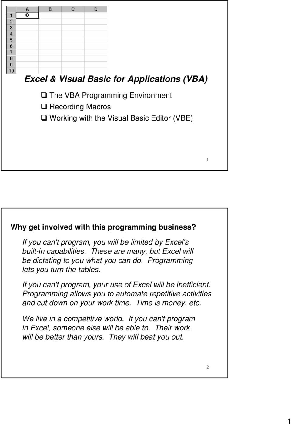 Excel & Visual Basic for Applications (VBA) - PDF