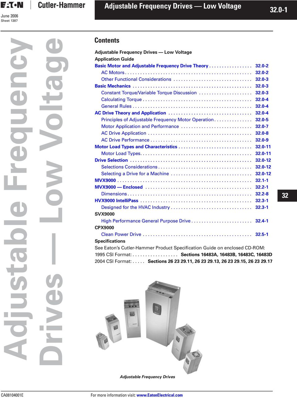 Drives Low Voltage Adjustable Frequency Motor Drivers 2 0 Application Guide General Description June 2006 Sheet 18 Basic And Drive