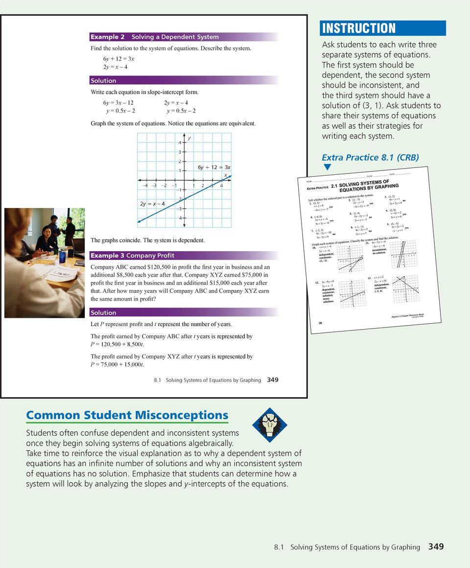 LESSON OBJECTIVES  Mental Math  Skills Review  344 Chapter 8