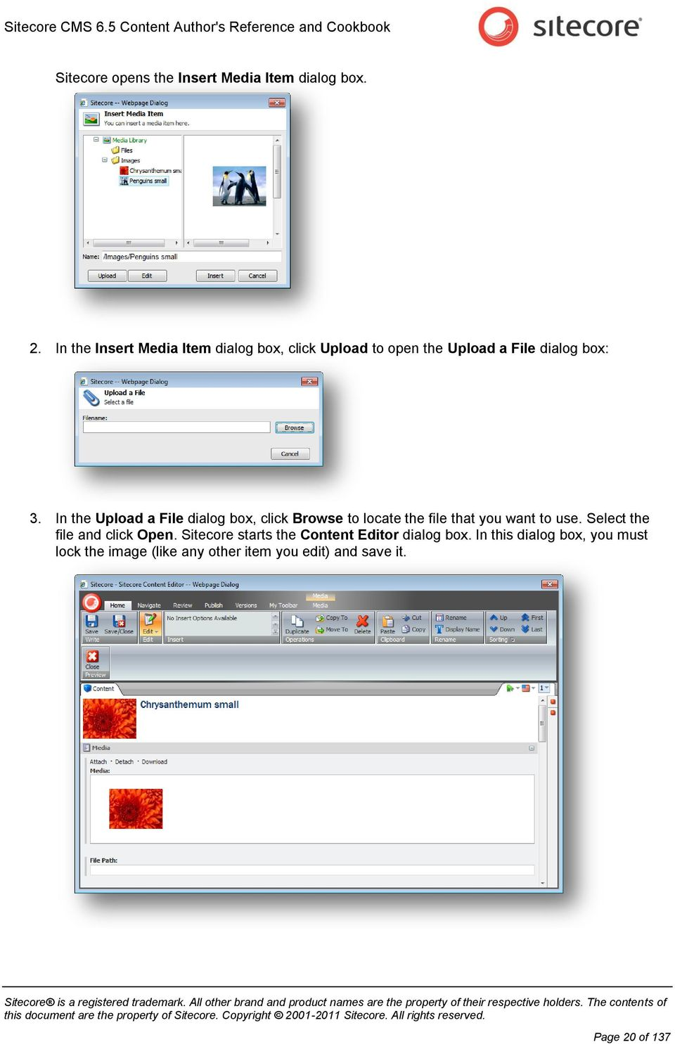 In the Upload a File dialog box, click Browse to locate the file that you want to use.