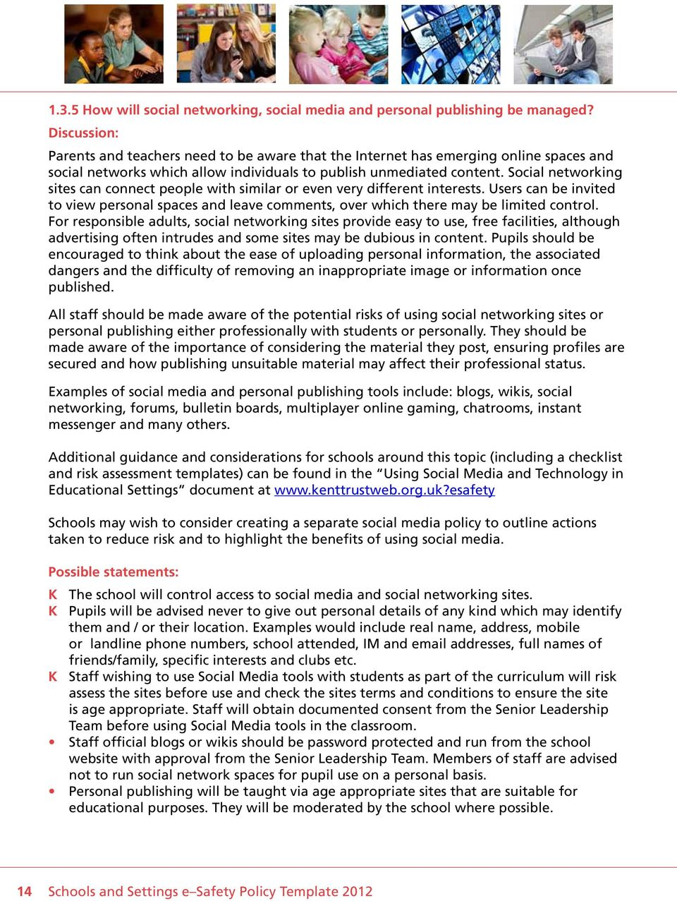 Schools and settings e safety policy template pdf social networking sites can connect people with similar or even very different interests users can maxwellsz