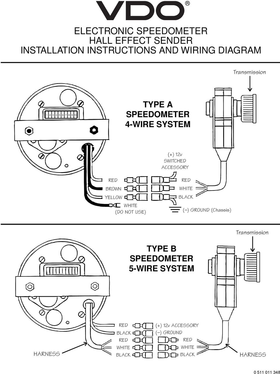 vdo electronic speedometer hall effect sender installation rh docplayer net vdo electronic speedo wiring diagram