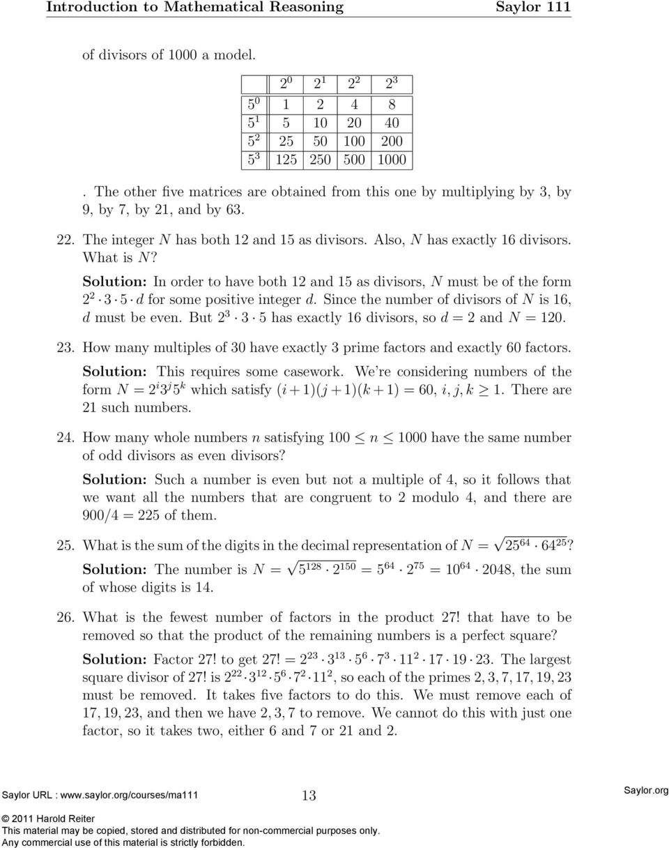 Just the factors ma am pdf solution in order to have both 12 and 15 as divisors n must be ccuart Choice Image
