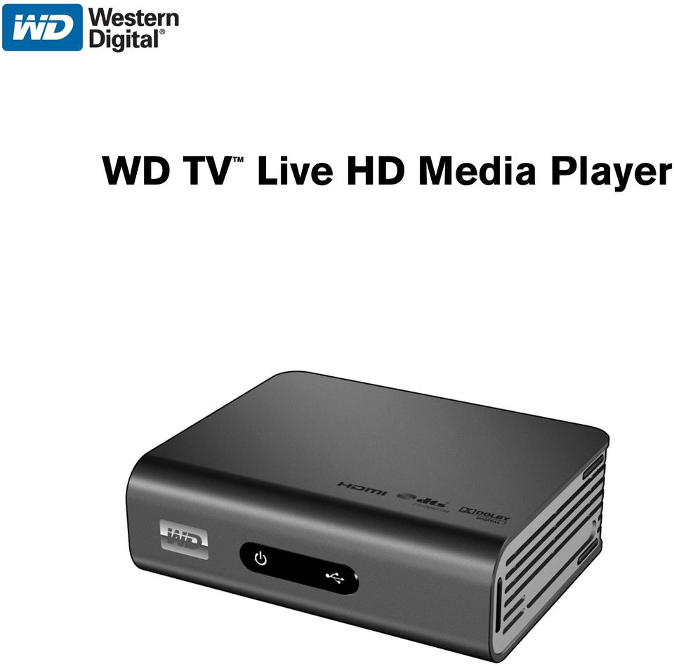 WD TV Live HD Media Player - PDF