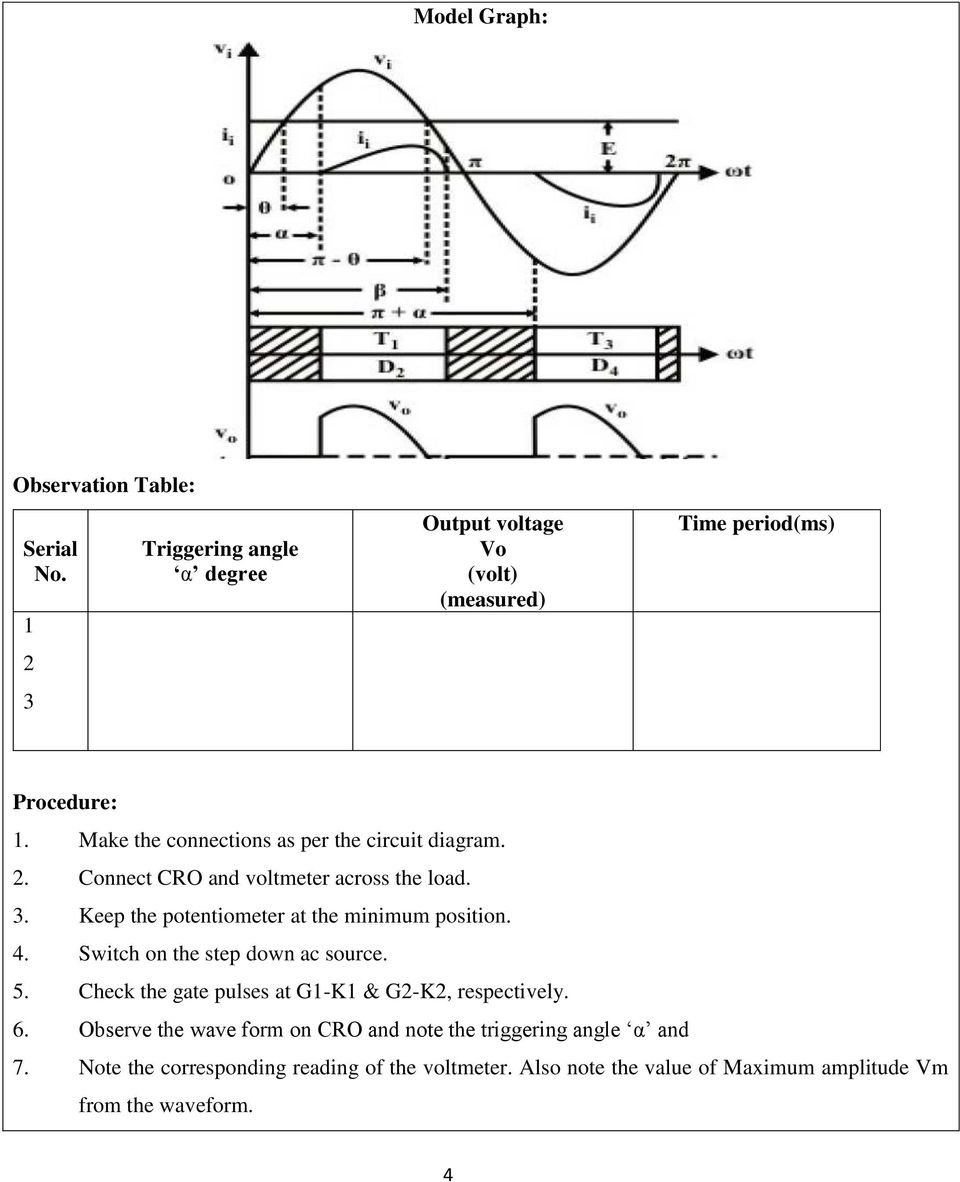 Ee0314 Power Electronics Lab Reference Manual Pdf Measurement Of Electrical Quantities With A Cro Keep The Potentiometer At Minimum Position 4 Switch On Step Down Ac