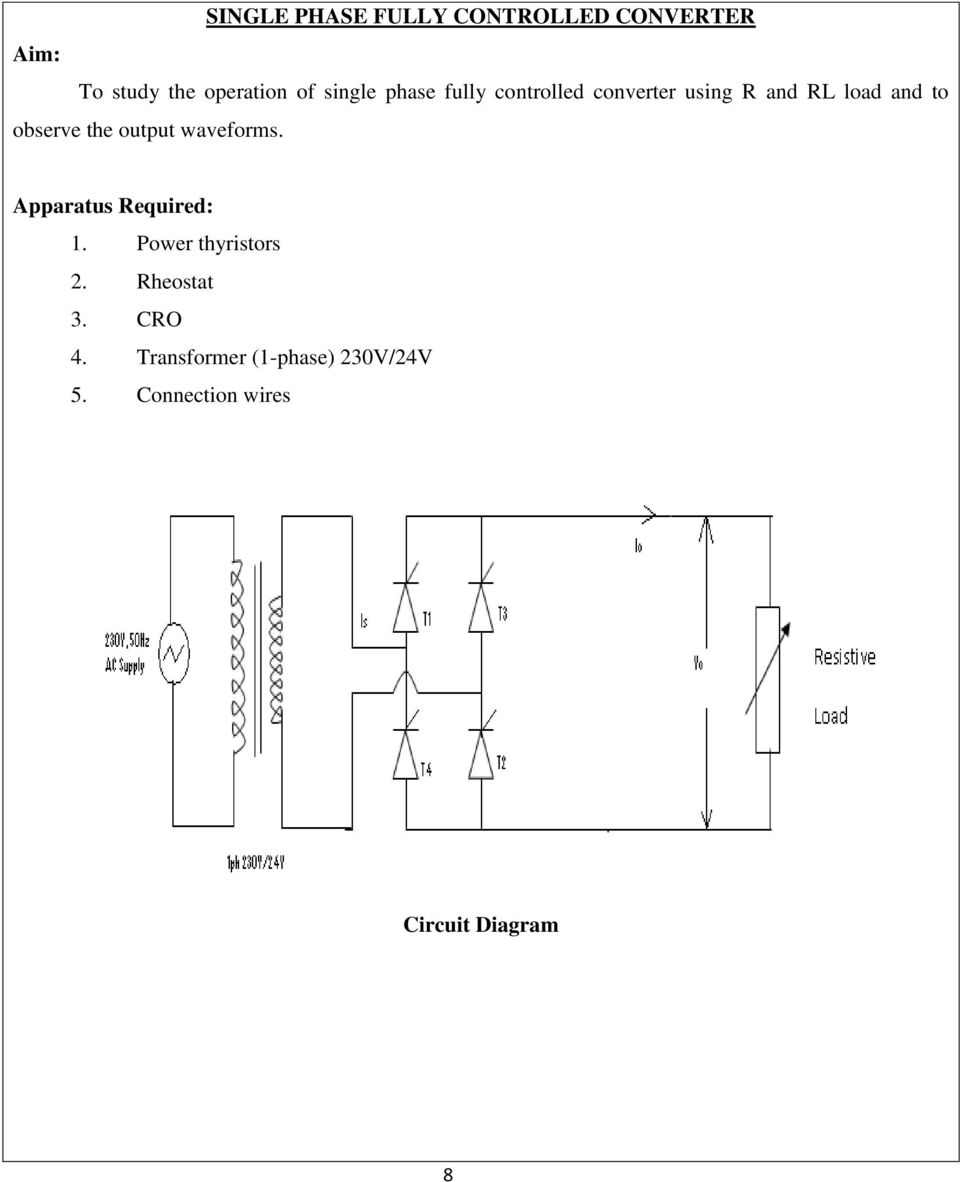Rheostat Connection Diagram