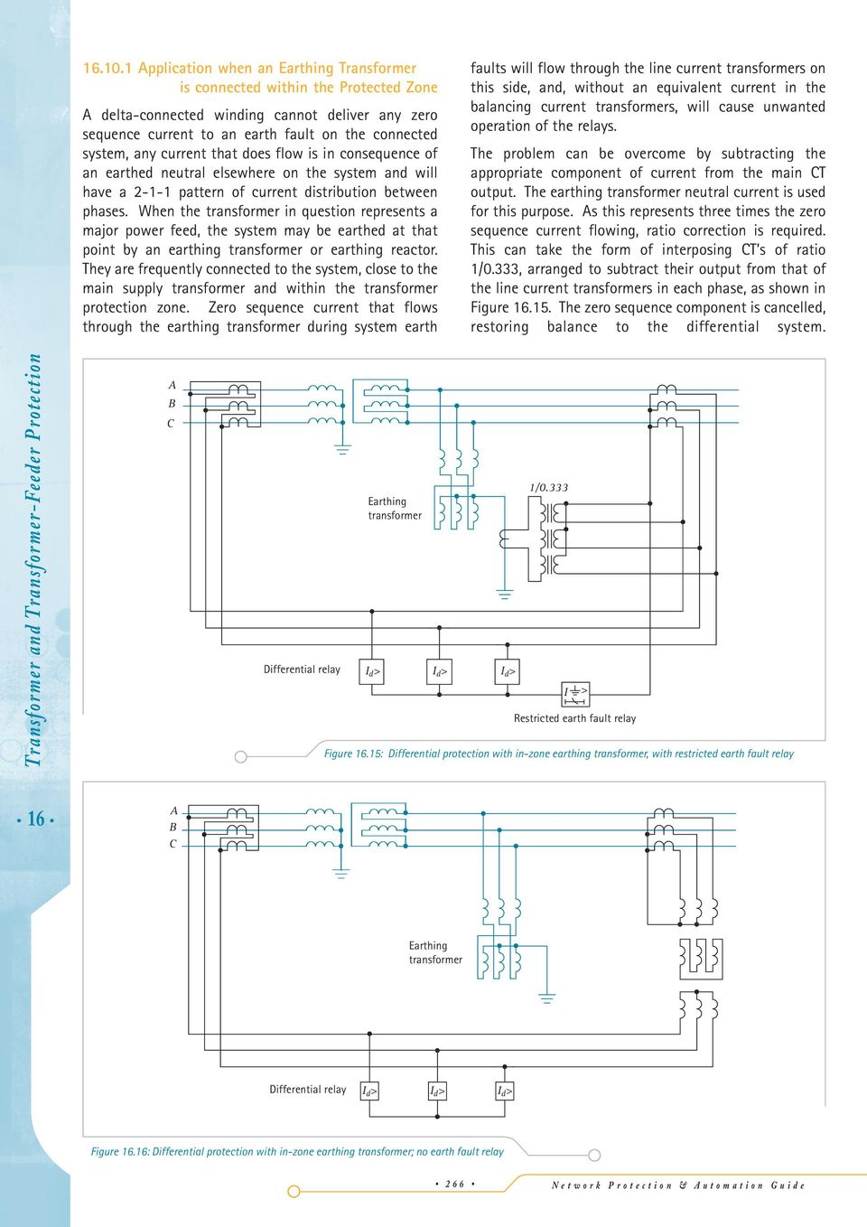 16 Transformer And Feeder Protection Pdf Fig 1 Scr Relay Driver Circuit Current That Does Flow Is In Consequence Of An Earthed Neutral Elsewhere On The System