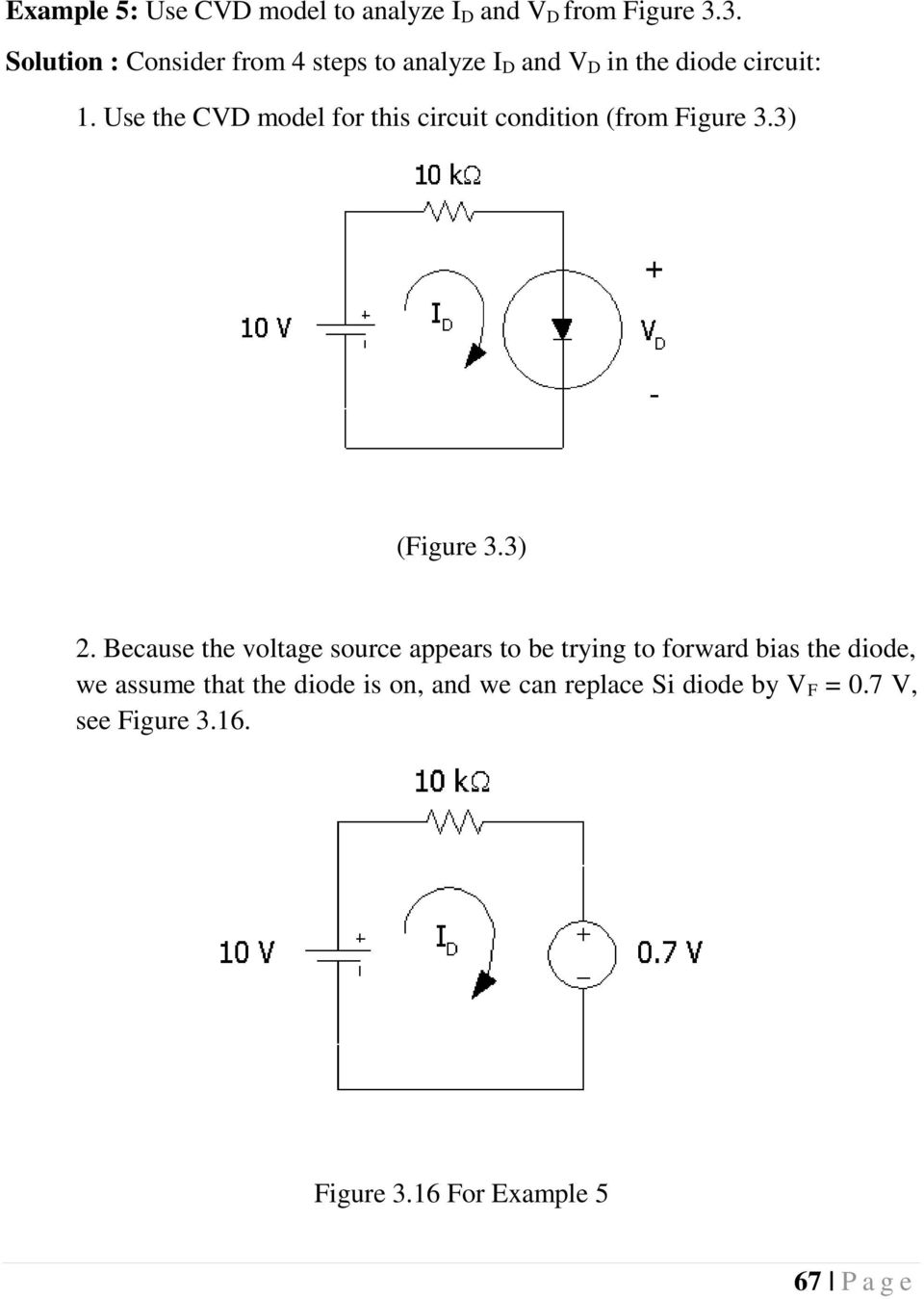 Chapter 3 Diodes And Applications Introduction 5 6 Pdf Circuit In Addition Led Light Emitting Diode Further Rectifier Use The Cvd Model For This Condition From Figure 33