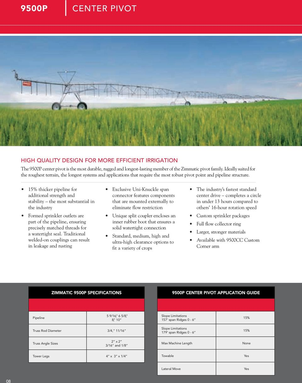 Irrigation Systems Product Guide Pdf Valley Center Pivot Wiring Diagram 15 Thicker Pipeline For Additional Strength And Stability The Most Substantial In Industry Formed 11 8500p