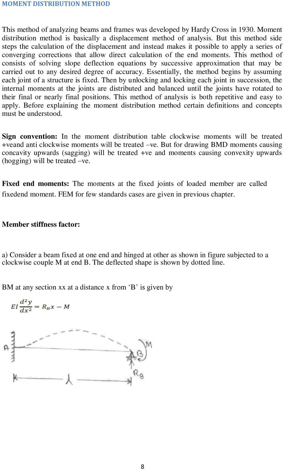 Structural Analysis Ii A60131 Pdf Frame Shown By The Slope Deflection Method Draw Bending Moment Diagram This Of Consists Solving Equations Successive Approximation That May Be Carried