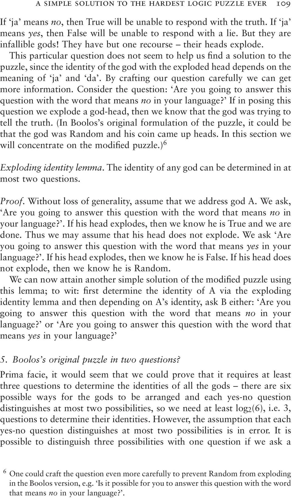 A simple solution to the hardest logic puzzle ever - PDF