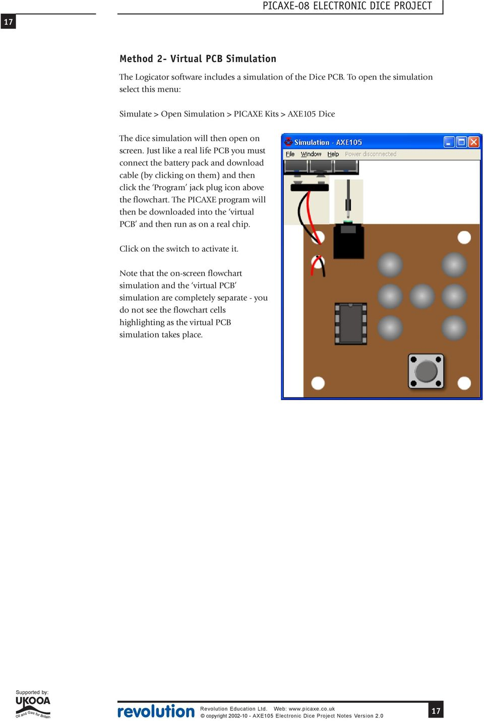 Example Use Of A Microcontroller Revolution Education Ltd Web Pdf 115 Projects Diy Circuit Board Falsh Toy Integrated Electronic Just Like Real Life Pcb You Must Connect The Battery Pack And Download Cable