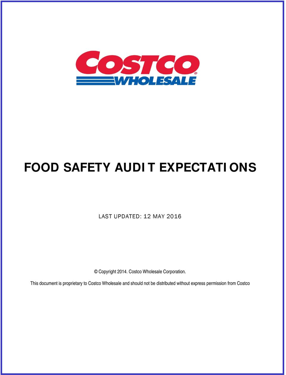 FOOD SAFETY AUDIT EXPECTATIONS - PDF