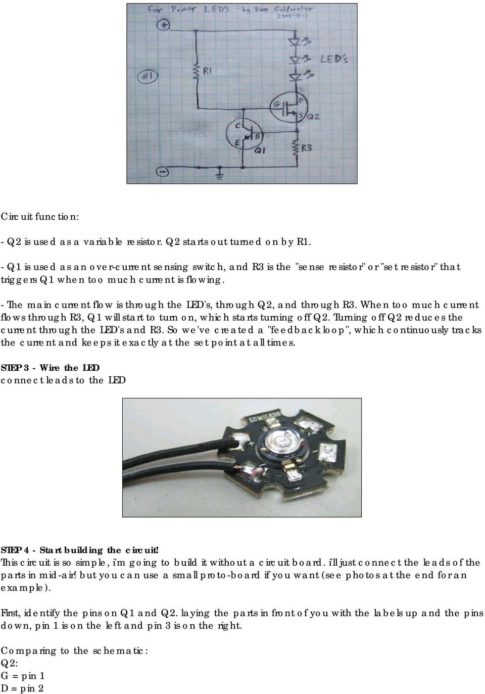 Power Leds Simplest Light With Constant Current Circuit Pdf For 5 Led Chaser Using 555 Chip Electronics Forum Circuits The Main Flow Is Through Q2 And R3