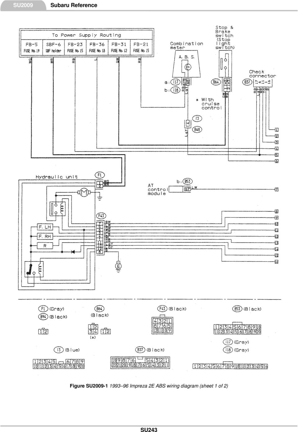 Subaru R2 Wiring Diagram Trusted Schematics Ej22 Engine Reference This Contains The Following Information Forester Abs