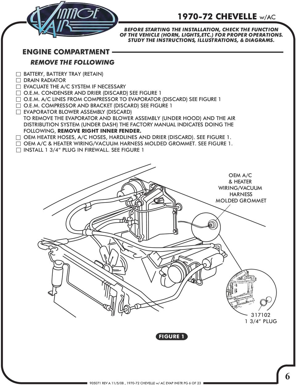 e m  compressor and bracket (discard) see figure 1 evaporator blower  assembly (discard)