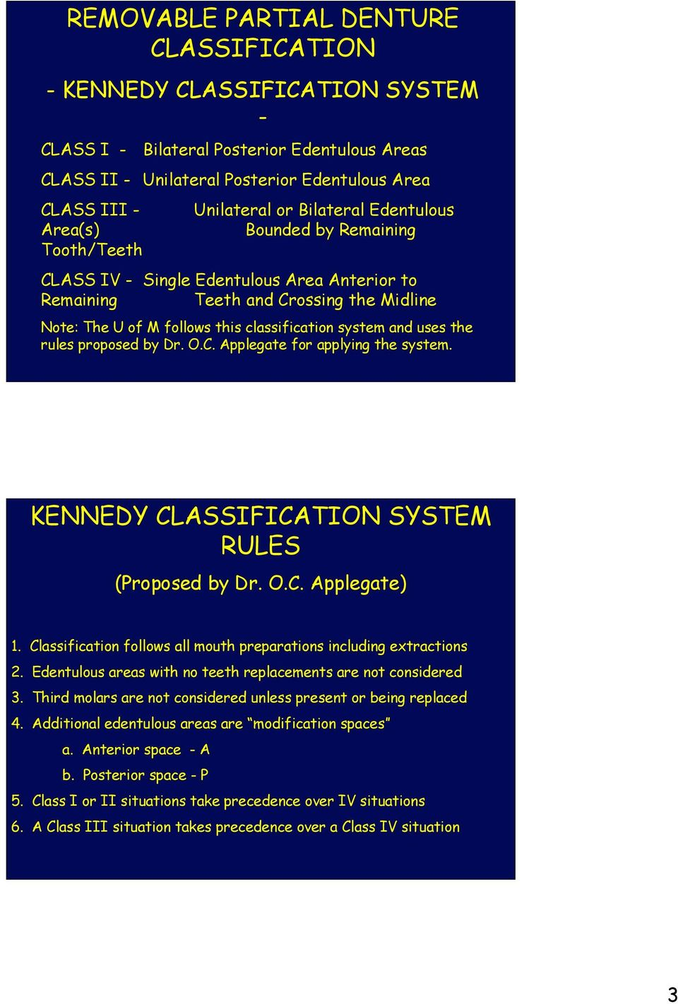 CLASSIFICATION OF REMOVABLE PARTIAL DENTURES - PDF