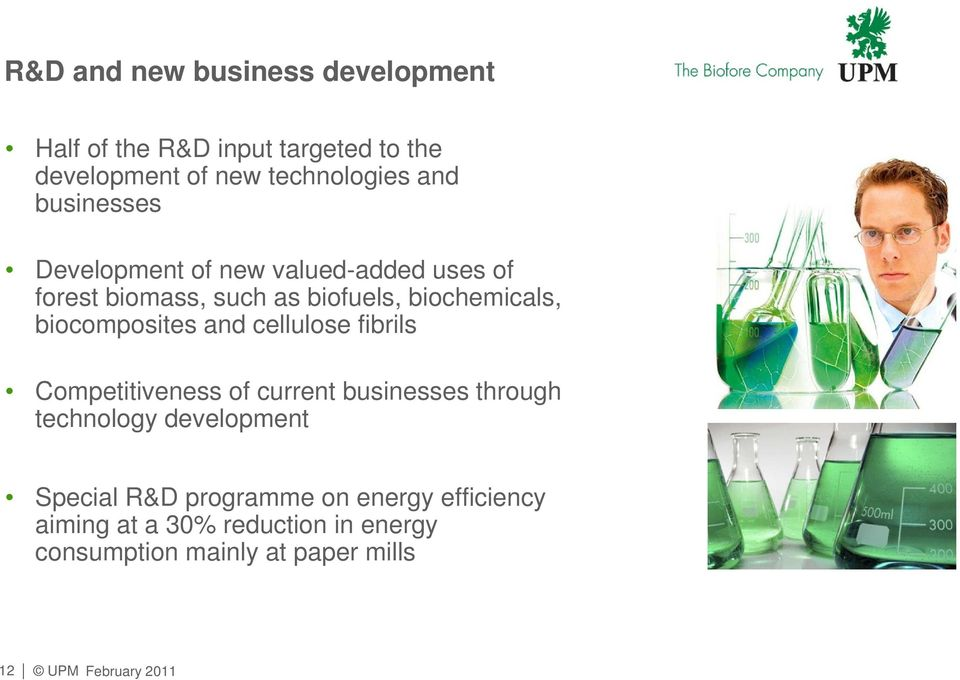 biocomposites and cellulose fibrils Competitiveness of current businesses through technology development
