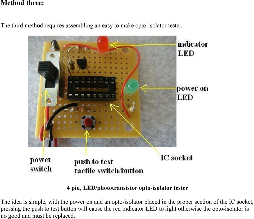 Pwm Circuit For Mc 2100 Motor Controller Board Pdf Wiring 555 Ic As A Square Wave Oscillator Two Led Flasher Application Opto Isolator Placed In The Proper Section Of Socket Pressing Push