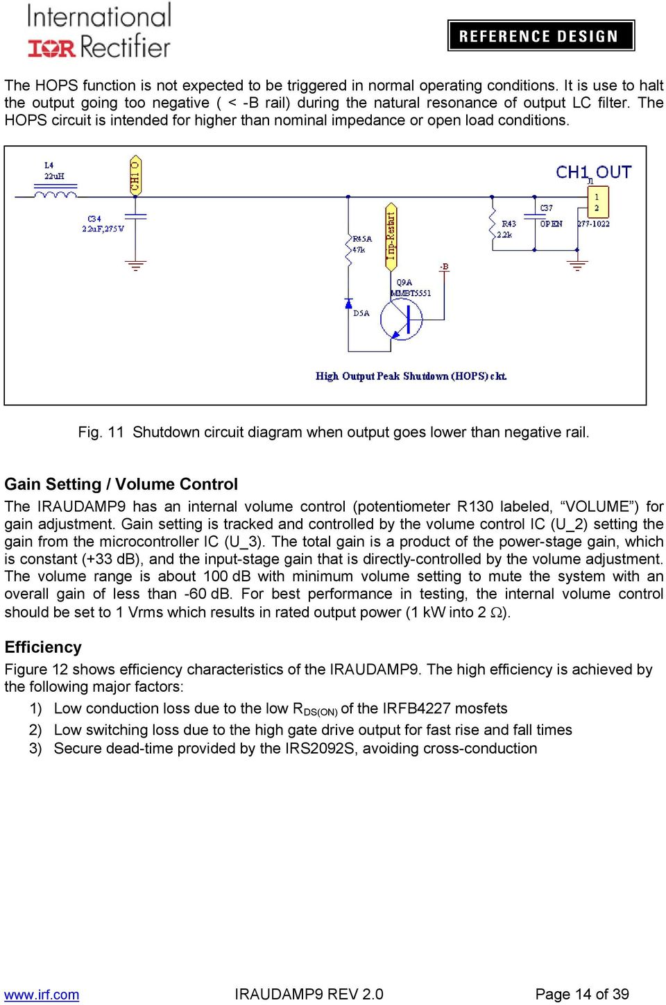 Iraudamp Kw 2 Single Channel Class D Audio Power Amplifier Using Circuit Dynamic With Ic Dmos Tda7294 Bridge Gain Setting Volume Control The Iraudamp9 Has An Internal Potentiometer R130 Labeled