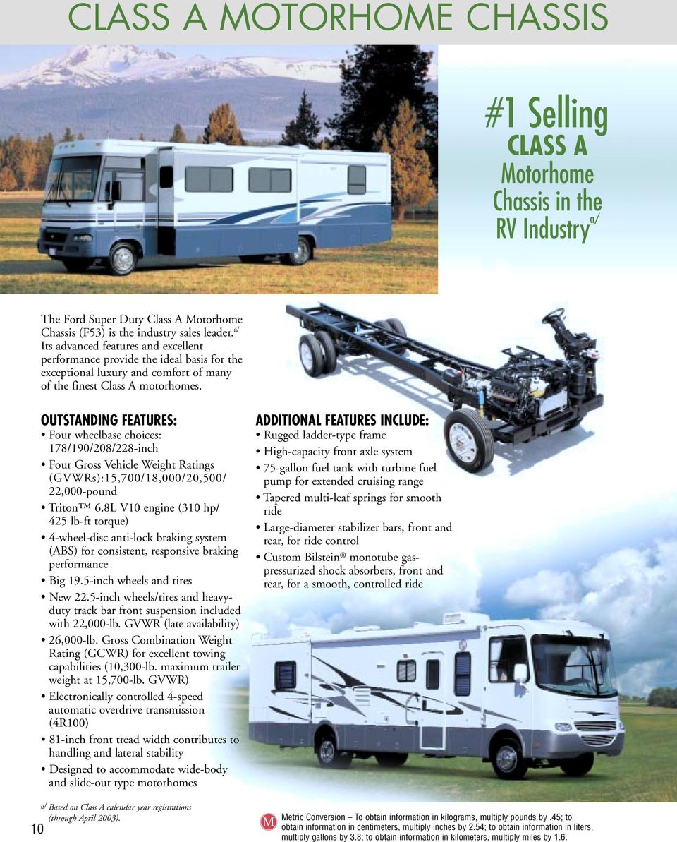 T O W I N G U D E Pdf Wire Diagram Oem Ford F53 V1 0 Outstanding Features Four Wheelbase Choices 178 190 208 228 Inch