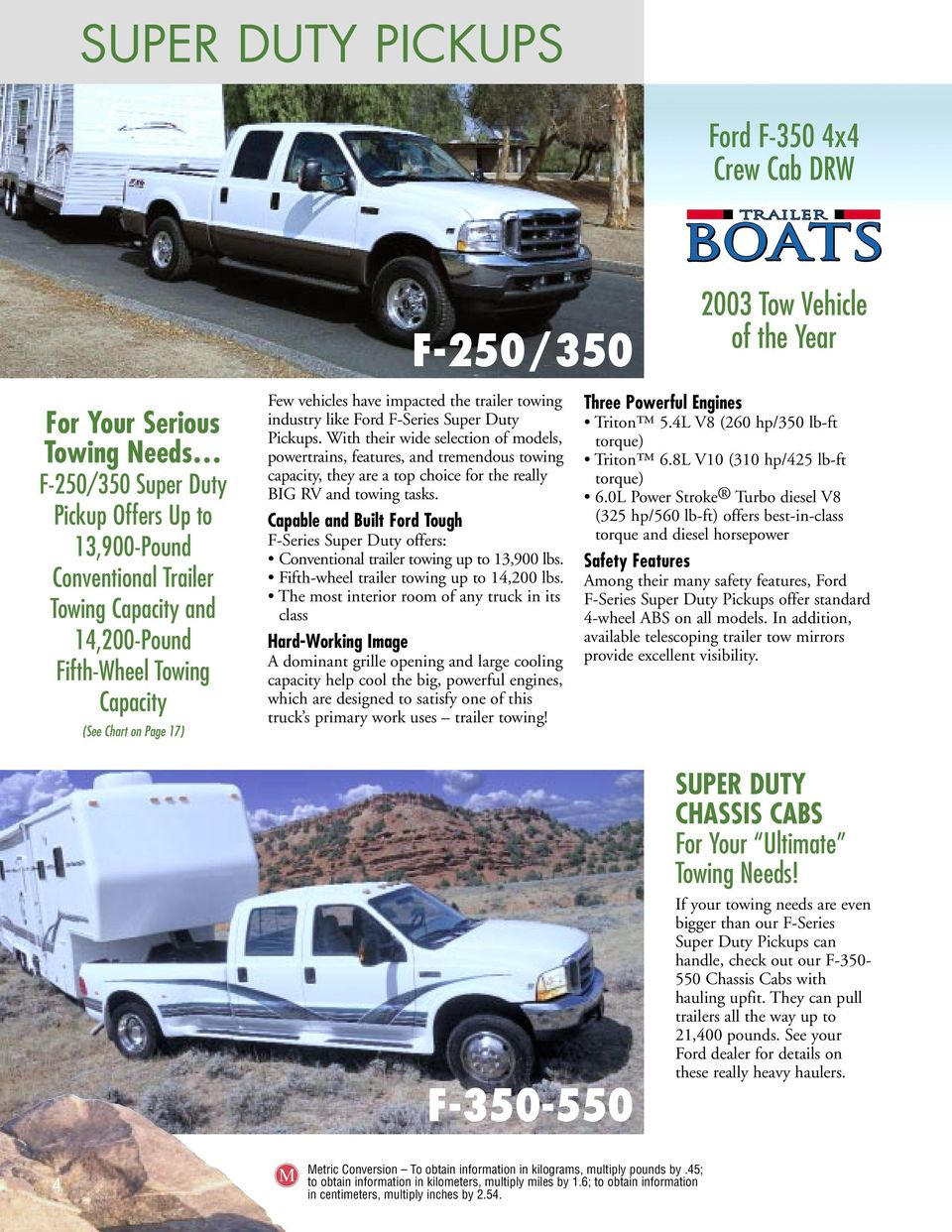 With their wide selection of models, powertrains, features, and tremendous  towing capacity,