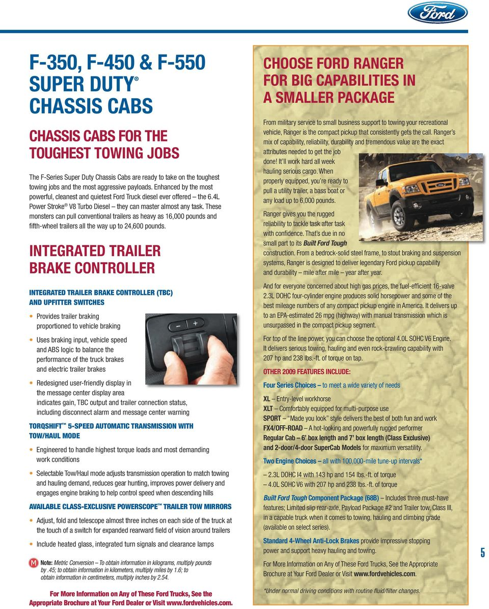 Rv And Trailer Towing Guide Pdf Ford Ranger Brake Wiring These Monsters Can Pull Conventional Trailers As Heavy 16000 Pounds Fifth Wheel