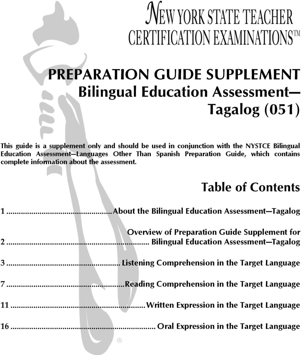 Preparation Guide Supplement Bilingual Education Assessment Tagalog 051 Pdf Free Download Learning tagalog can make your world much bigger and help you meet new people from different through this course, you will learn critical communication skills in tagalog speaking, writing, and. preparation guide supplement bilingual