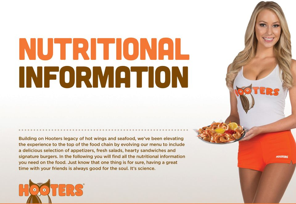 sandwiches and signature burgers. In the following you will find all the nutritional information you need on the food.