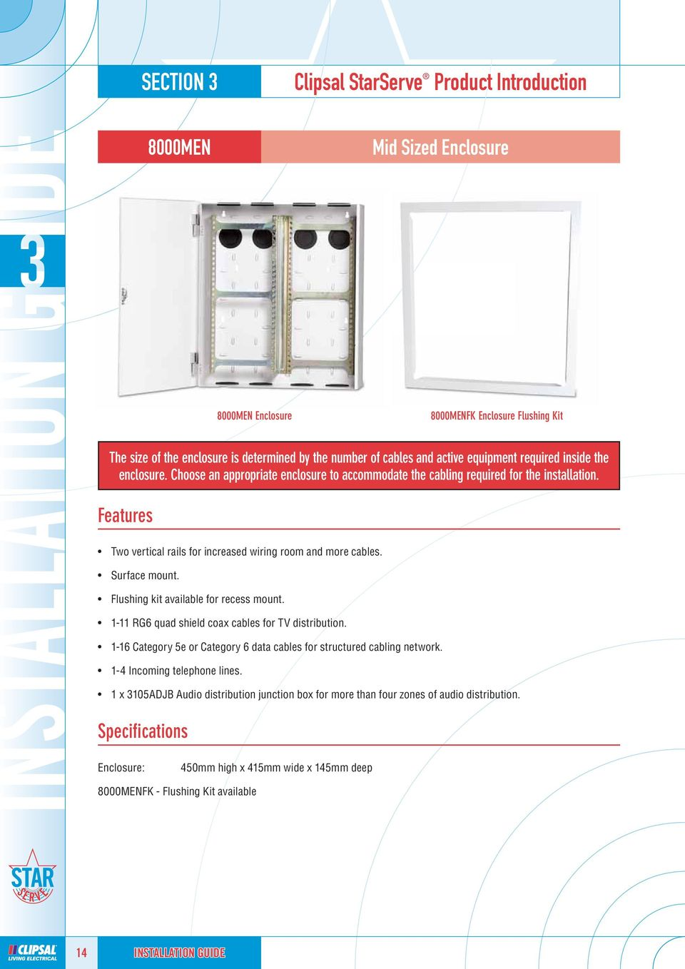 Home Networking Solutions Pdf Recessed Structured Wiring Box Features Two Vertical Rails For Increased Room And More Cables Surface Mount Flushing