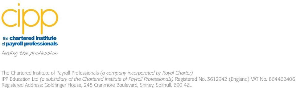 institute of payroll professionals