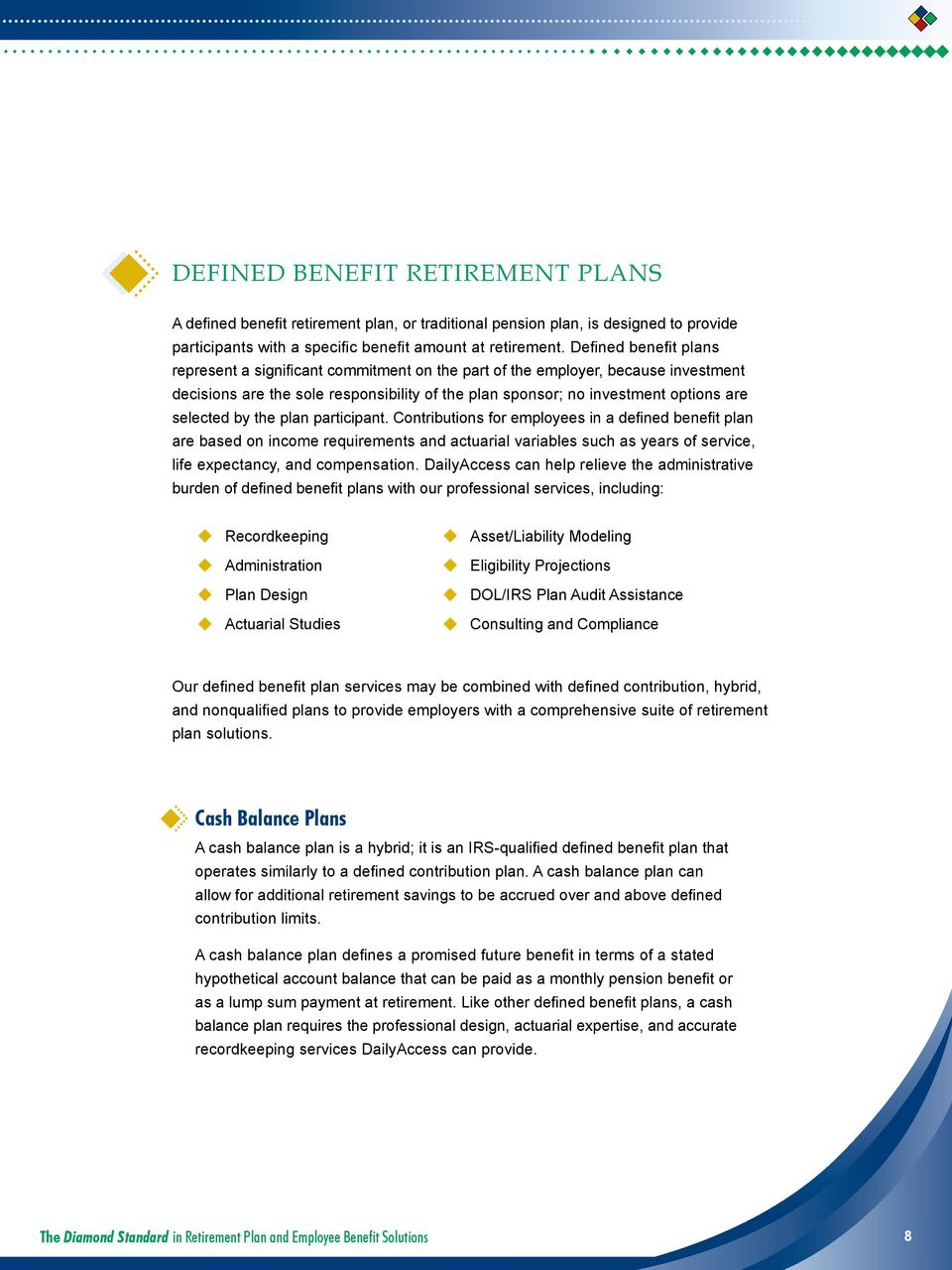 The Diamond Standard in Retirement Plan and Employee ...