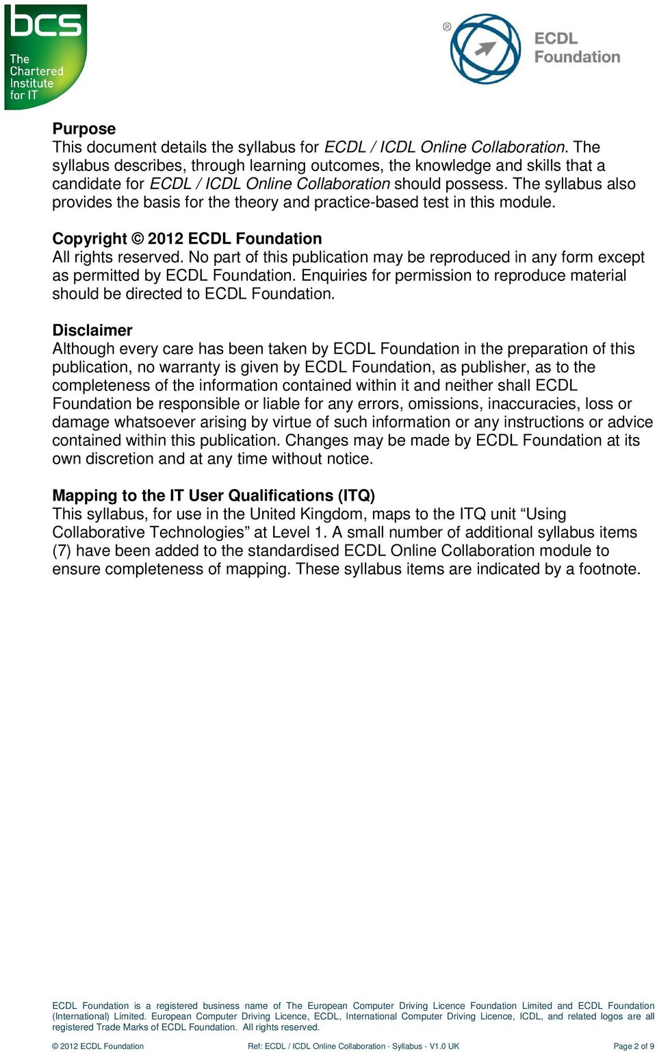 ecdl icdl online collaboration using collaborative technologies