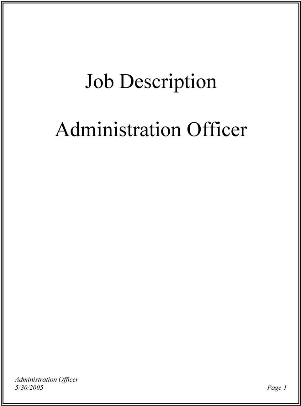 Job Description Administration Officer Pdf