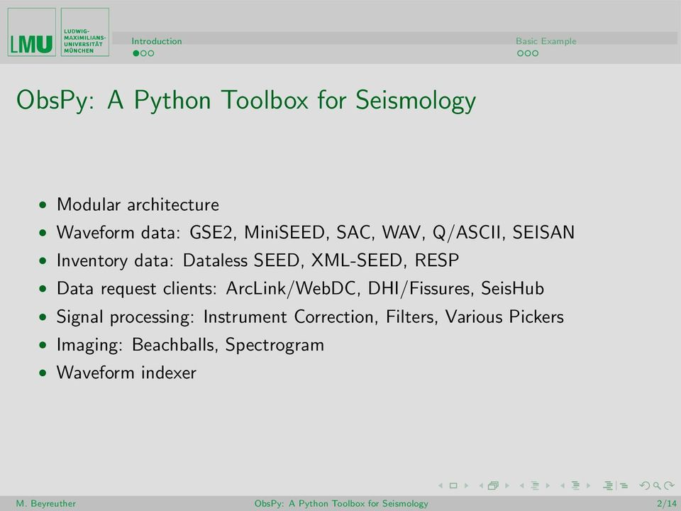 ObsPy: A Python Toolbox for Seismology - PDF