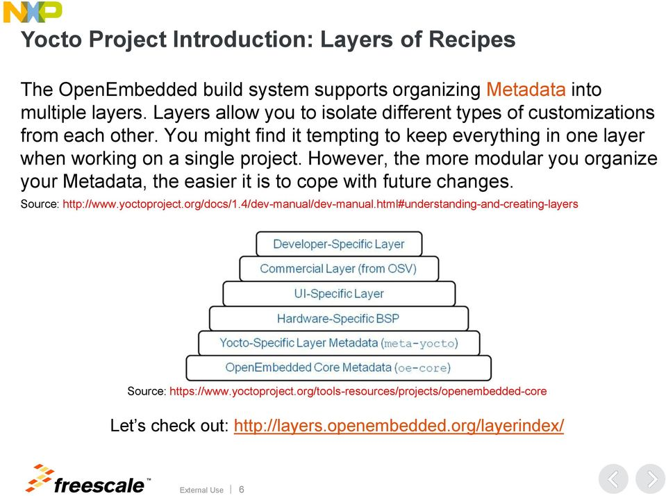 The Yocto Project and Linux Software Development for i mx