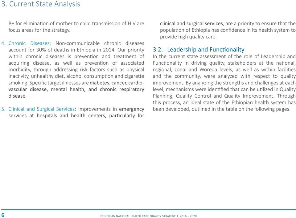 ETHIOPIAN NATIONAL HEALTH CARE QUALITY STRATEGY  Transforming the