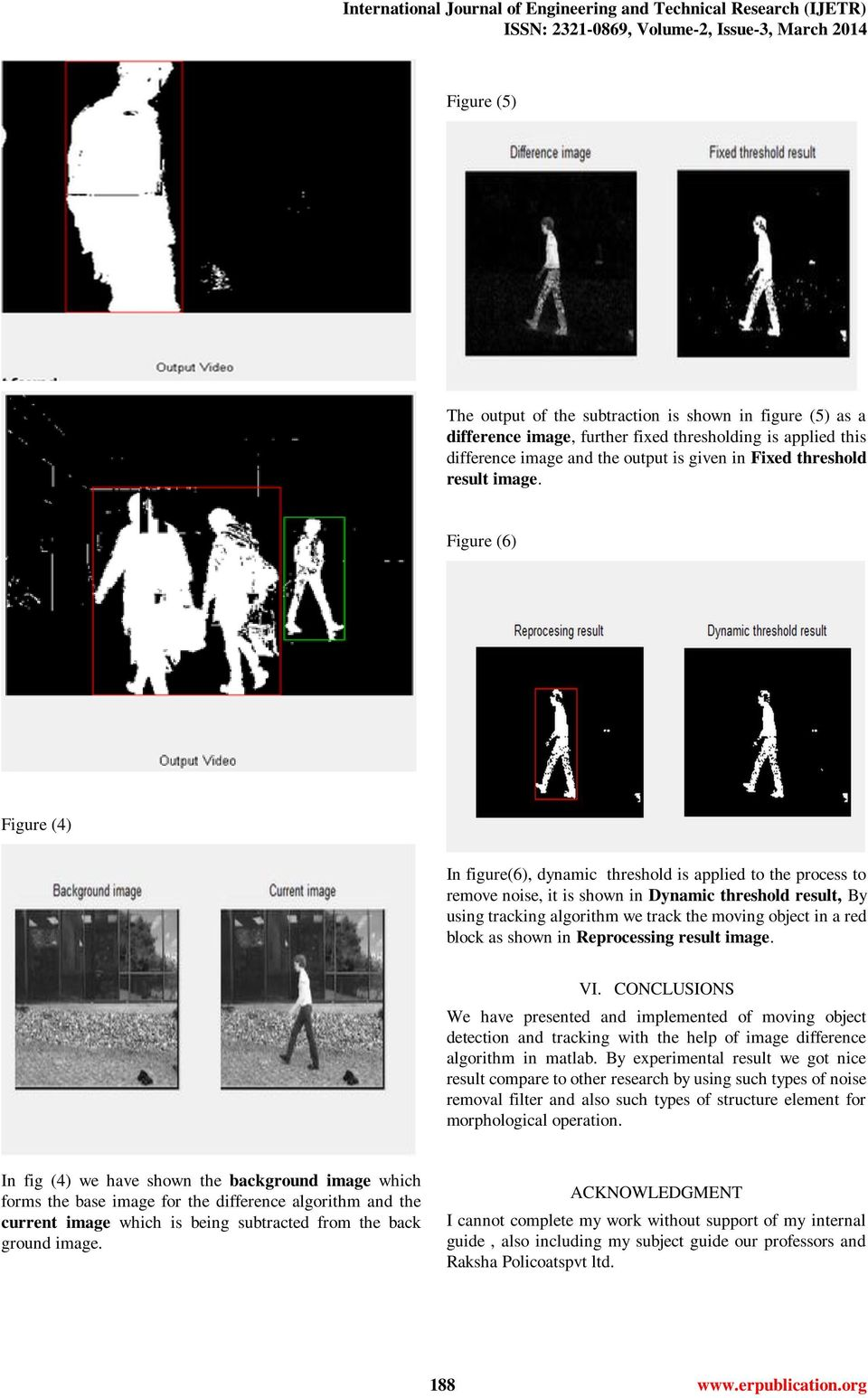 Human and Moving Object Detection and Tracking Using Image