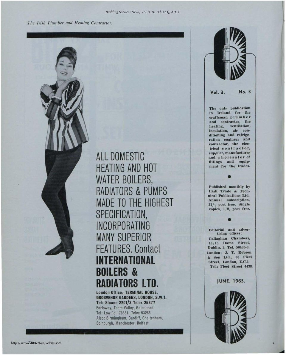 The Irish Plumber and Heating Contractor, June 1963 (complete issue ...