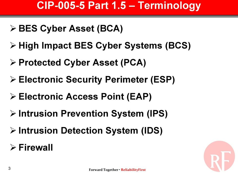 Systems (BCS) Protected Cyber Asset (PCA) Electronic Security