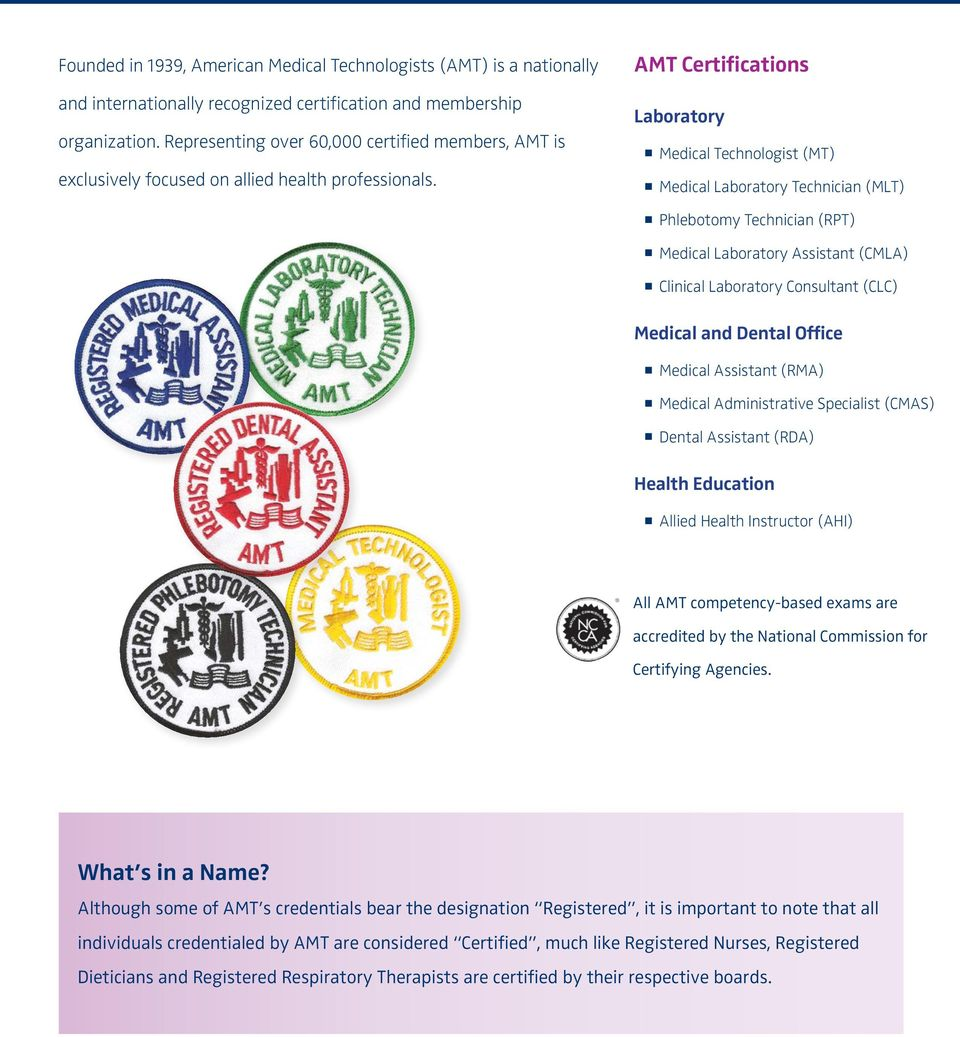 A School Guide To Amt Certification Pdf