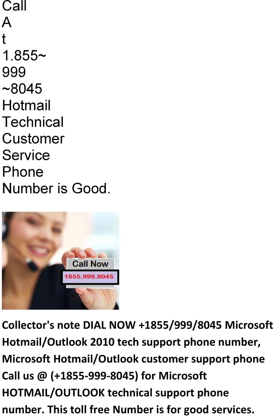 phone, Microsoft Hotmail/Outlook customer support phone Call us @ (+1855-